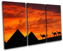 Egypt Pyramids Sunset Seascape - 13-1826(00B)-TR32-LO